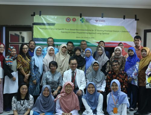 Development a local specific food-based recommendations (Panduan Gizi Seimbang Berbasis Pangan Lokal – PGS-PL) for children under five who live in the 37 priority districts in Indonesia.