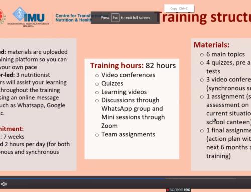 SEAMEO RECFON, IMU offer online course on Healthy School Canteen in Southeast Asia